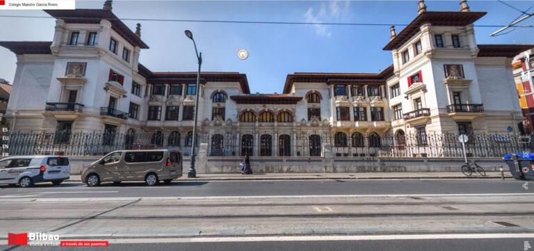 Colegio maestro García Rivero, un curioso edificio de estilo neovasco